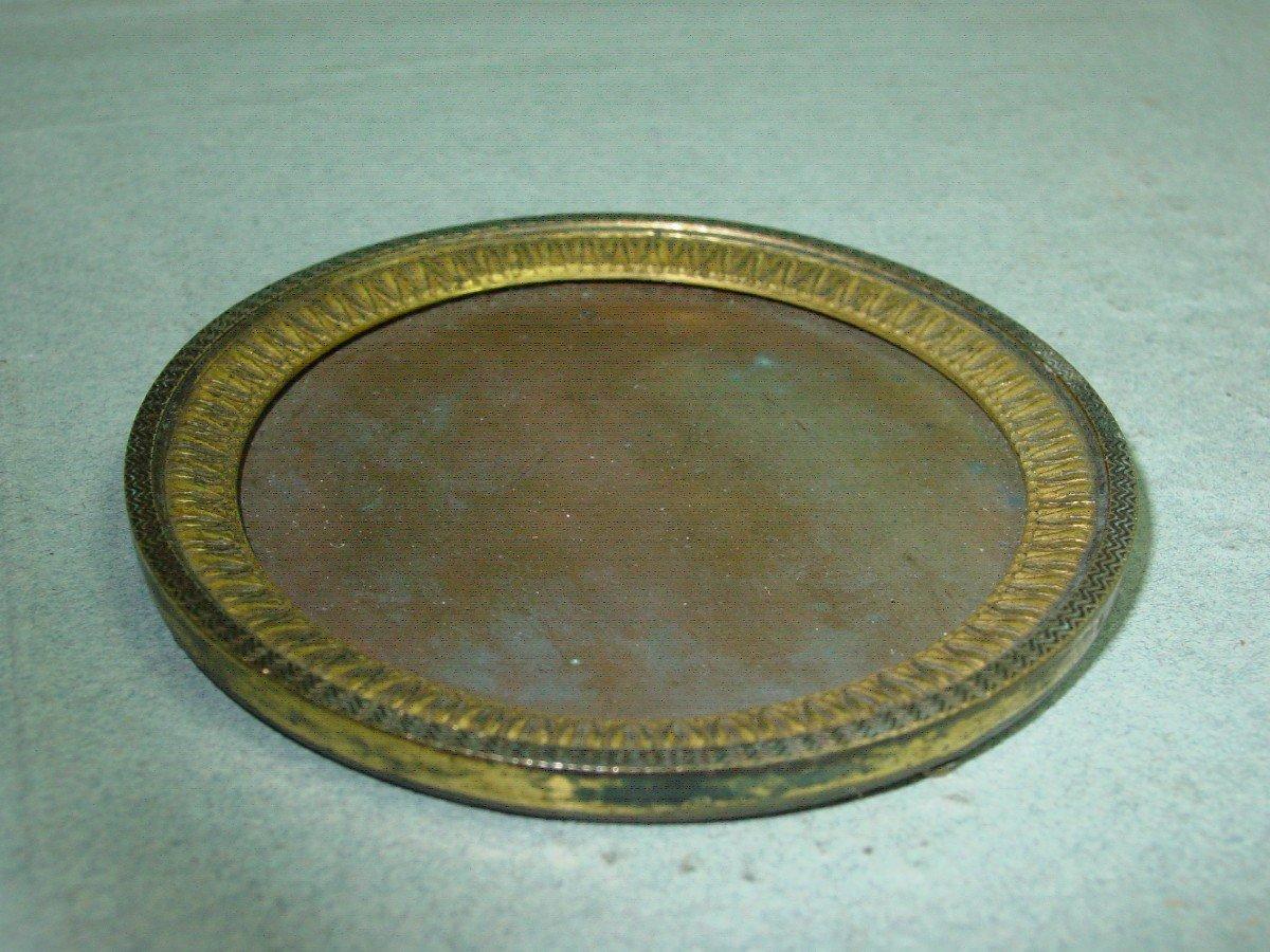 Cadre Epoque Empire Pour Miniature En Bronze Doré-photo-3