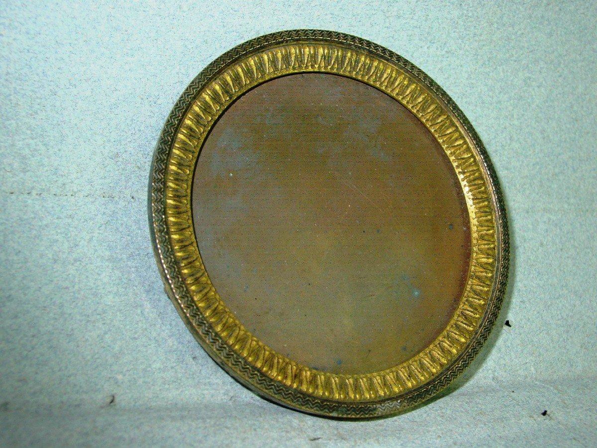 Cadre Epoque Empire Pour Miniature En Bronze Doré