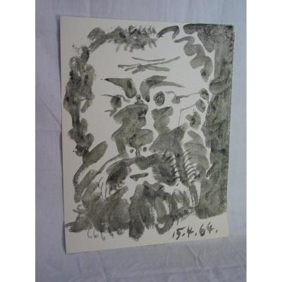 Estampe Picasso 1964 Pour Le Congrès Du Parti 130/1000 Coll. R. Garaudy