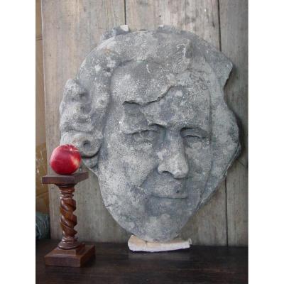 Profil d'Homme Célèbre Détail Bas-Relief C.1800 Monument Parisien