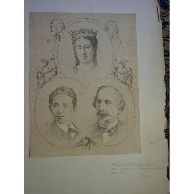 Vers 1870- Épreuve d'Essai Famille Impériale Fonds Abbé E. Misset Napoléon III