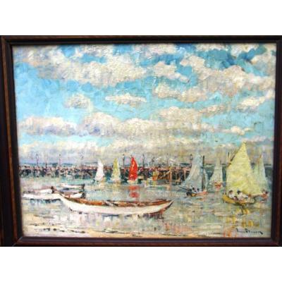 Pierre Fleury (1900-1985)  Peintre Des Nuages Et De La Mer