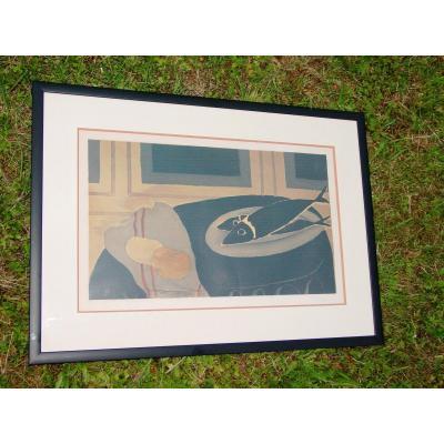 Litho G. Braque (1882-1963) Ed. & Engraver: Mourlot Edition: 67/70