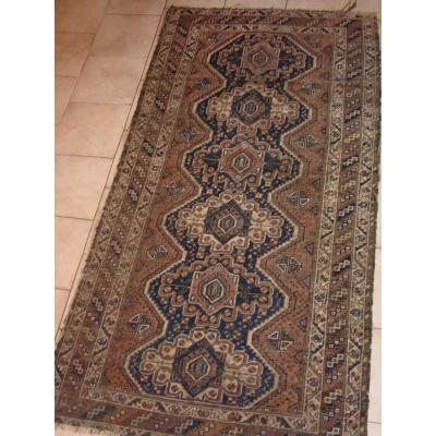 Old Persian Carpet Usures (207 X 104 Cm.)