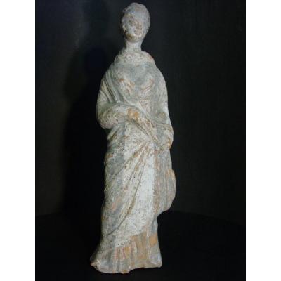 """""""Tanagra"""" Statuette en terre cuite  Art Hellénistique Av JC Grèce Antique"""