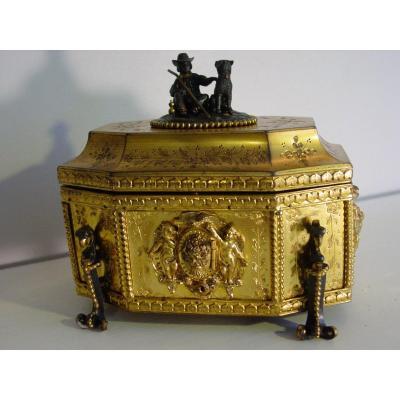 Coffret Style Renaissance En Bronze Doré