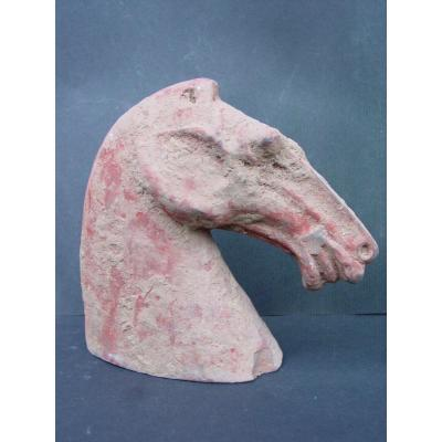 "China ""han"" Era Horse Head In Earth"