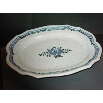 """Dish Says: """"black Ass"""" In Earthenware Decorated With Rouen XVIII Century"""