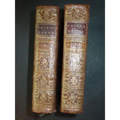 1742 - La Sainte Bible Ancien  Testament Par Le Maître De Saci