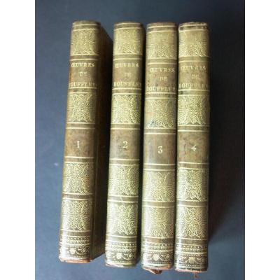 Œuvres Du Chevalier De Boufflers 4 Tomes Complet 1817 Joliment Reliés
