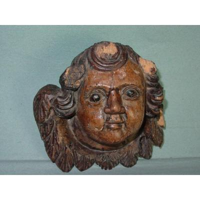 17th Century Angel Head, In The State