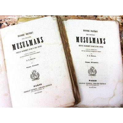 """""""political History Of Muslim Peoples"""" Jj Barreau 1842 (2 Volumes) To Be Bound"""