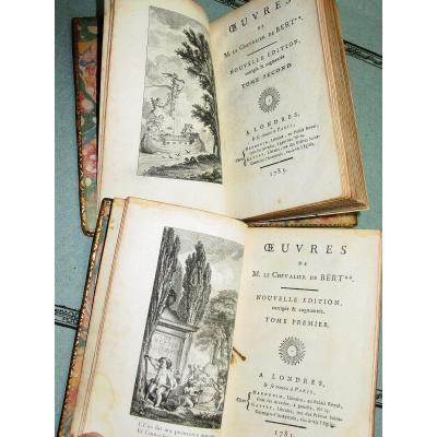 """""""(sic) Works Of M. Le Chevalier De Bert"""" In London & Paris At Hardouin 1785"""