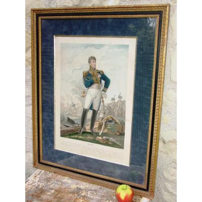Portrait Jean Rapp  Valeureux  Général d'Empire & Aide De Camp De Napoléon Gravure d'Ap. Aubry