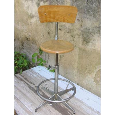 Chaise d'Atelier Vintage Des Années Cinquante Réglable