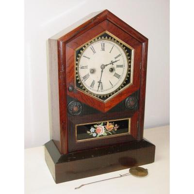 "Pendule américaine ""Jerome Chauncey Clock New Haven"" C. 1885"