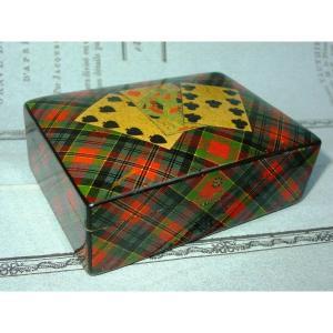 Clan Mac Pherson: Tartan Ware Lacquer Decor Playing Card Box