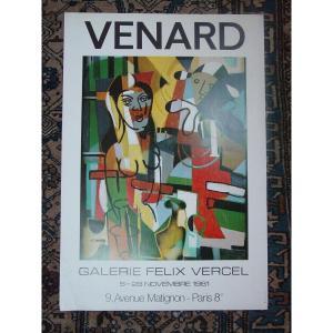 Poster C. Venard Galerie Vercel 1981 Offset Print