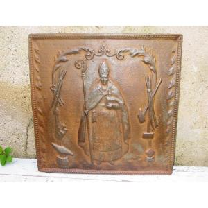 Saint Eloy Eloi Fireplace Plate From The 19th