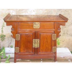 Cabinet d'Autel En Bois Dense Et Dur Zitan ? Chine ou Indochine vres 1920