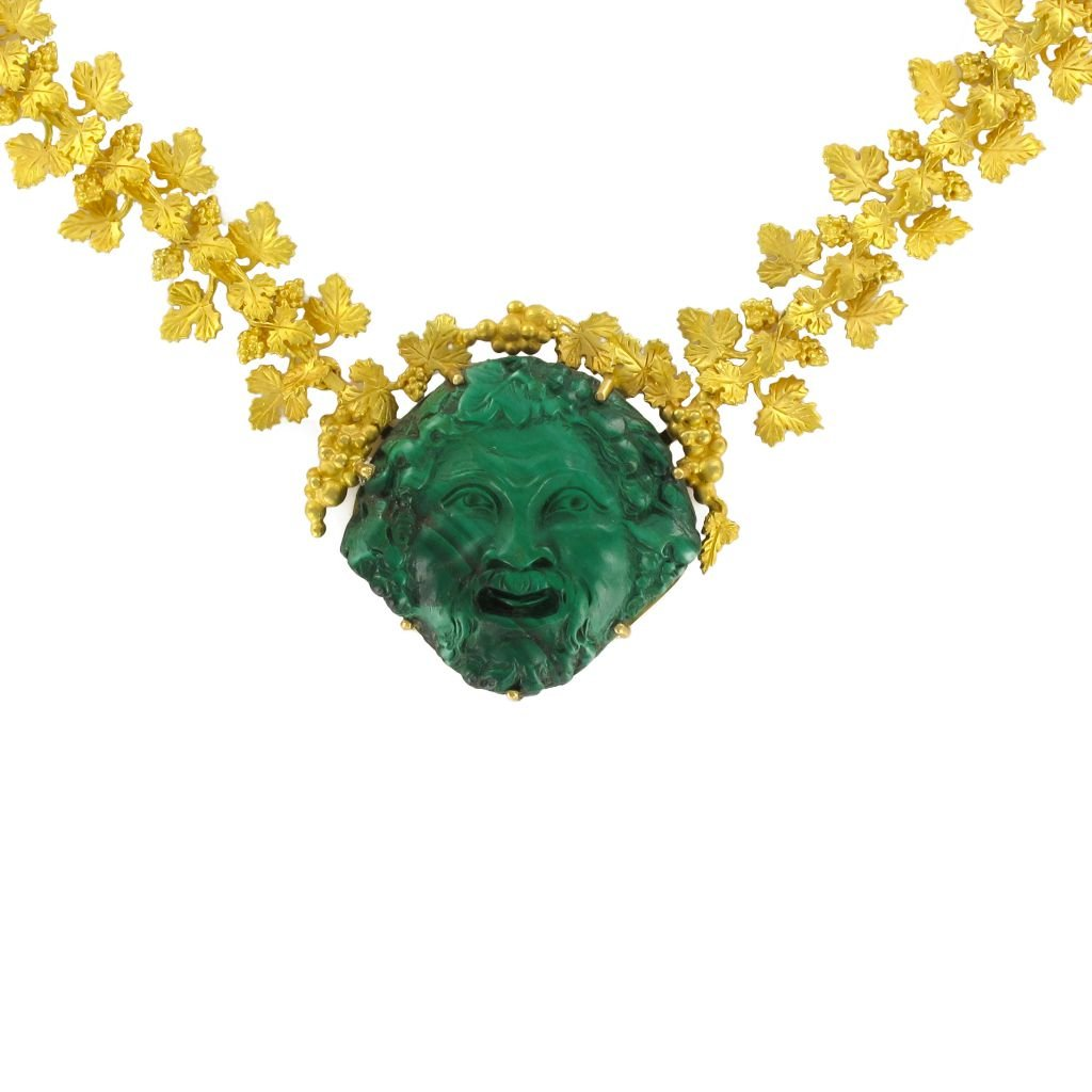 Collier Malachite & Or