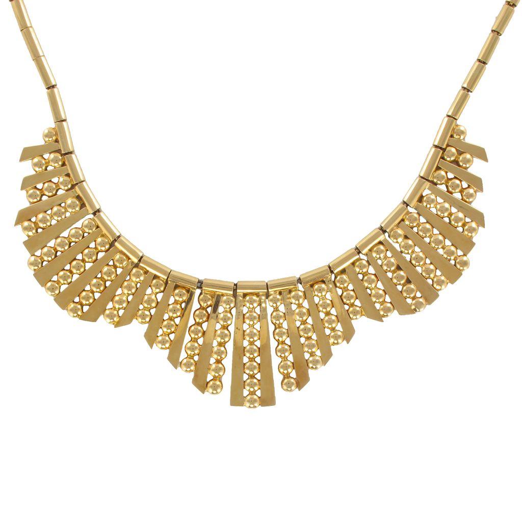 Vintage Pattern Radiant Gold Necklace