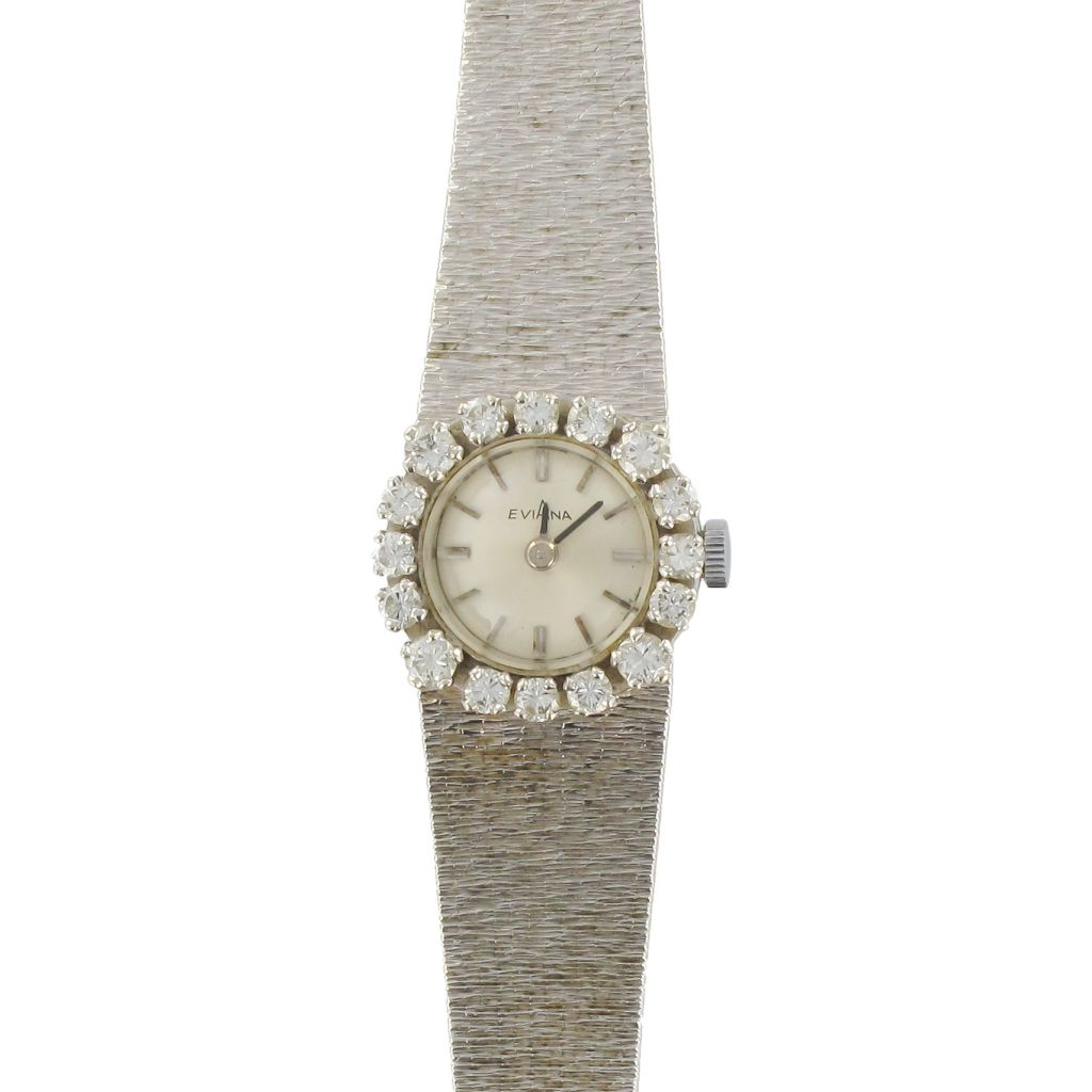 Montre Vintage Or Blanc Diamants Femme