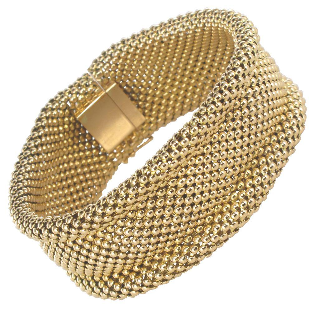 Vintage Soft Gold Woven Gold Bracelet