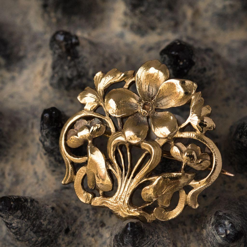 Broche Ancienne Or Art Nouveau broches