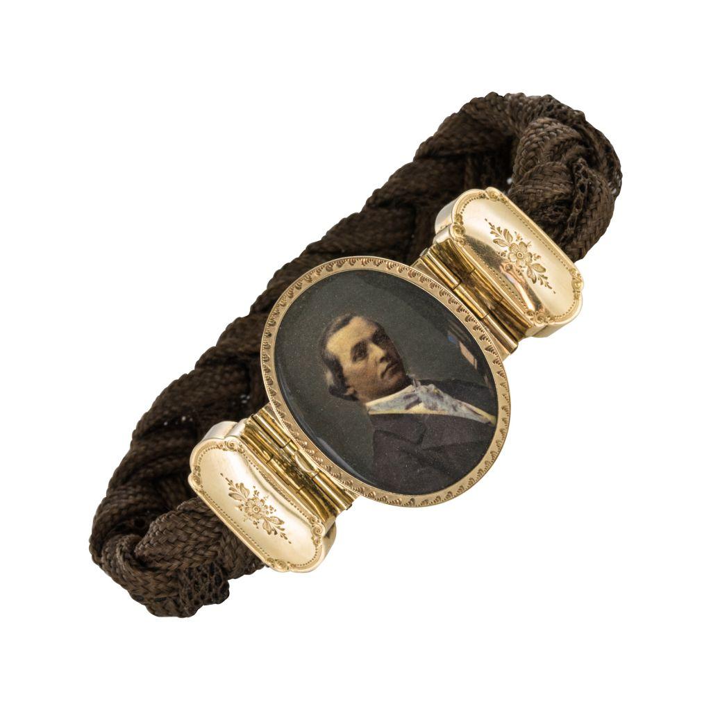 Bracelet Ancien Cheveux Photographie d'Un élégant