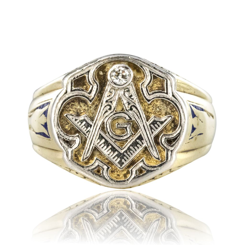 Masonic Men's Signet Ring - rings