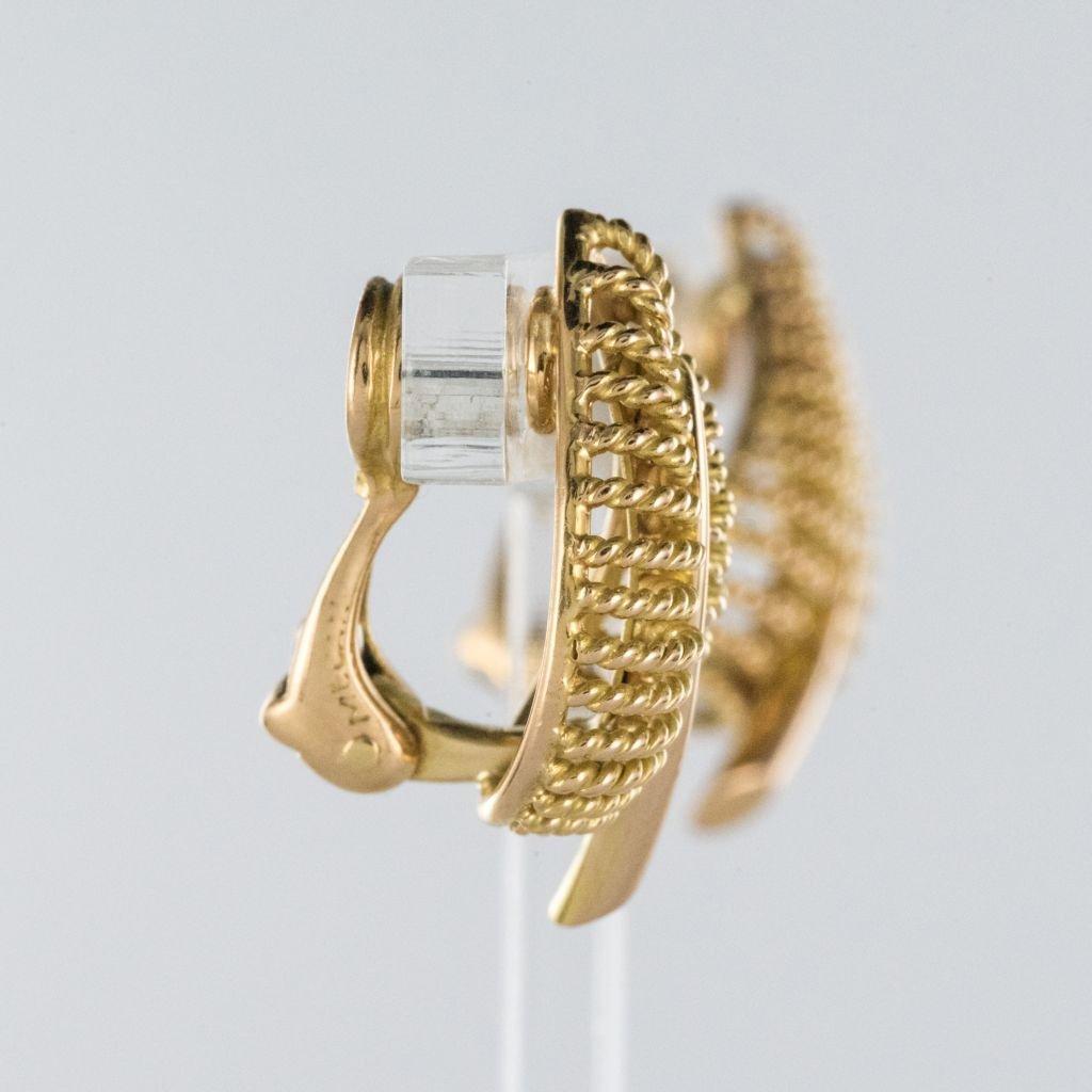 Boucles d'Oreilles Clips Feuilles d'Or-photo-1