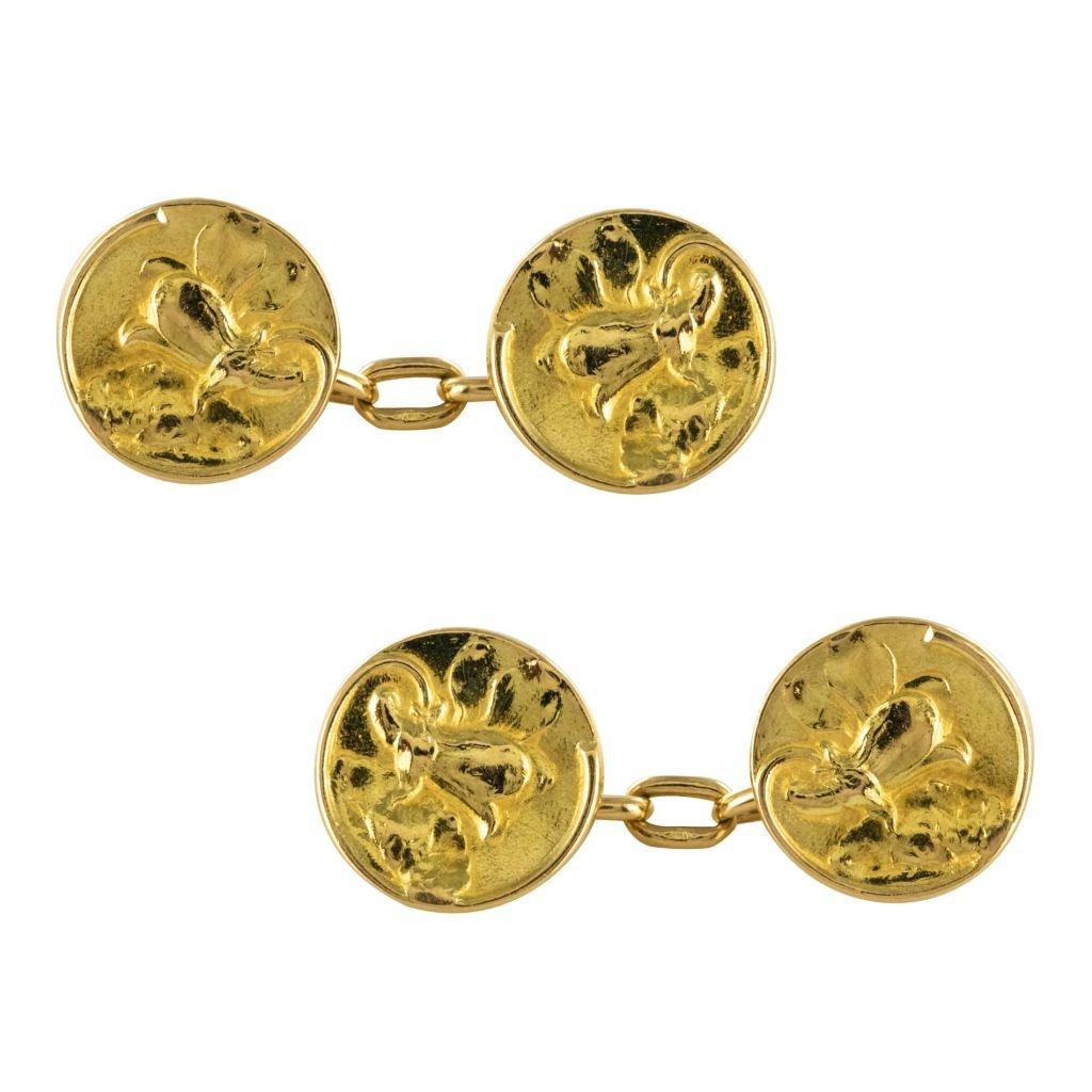 Gold Lys Cufflinks