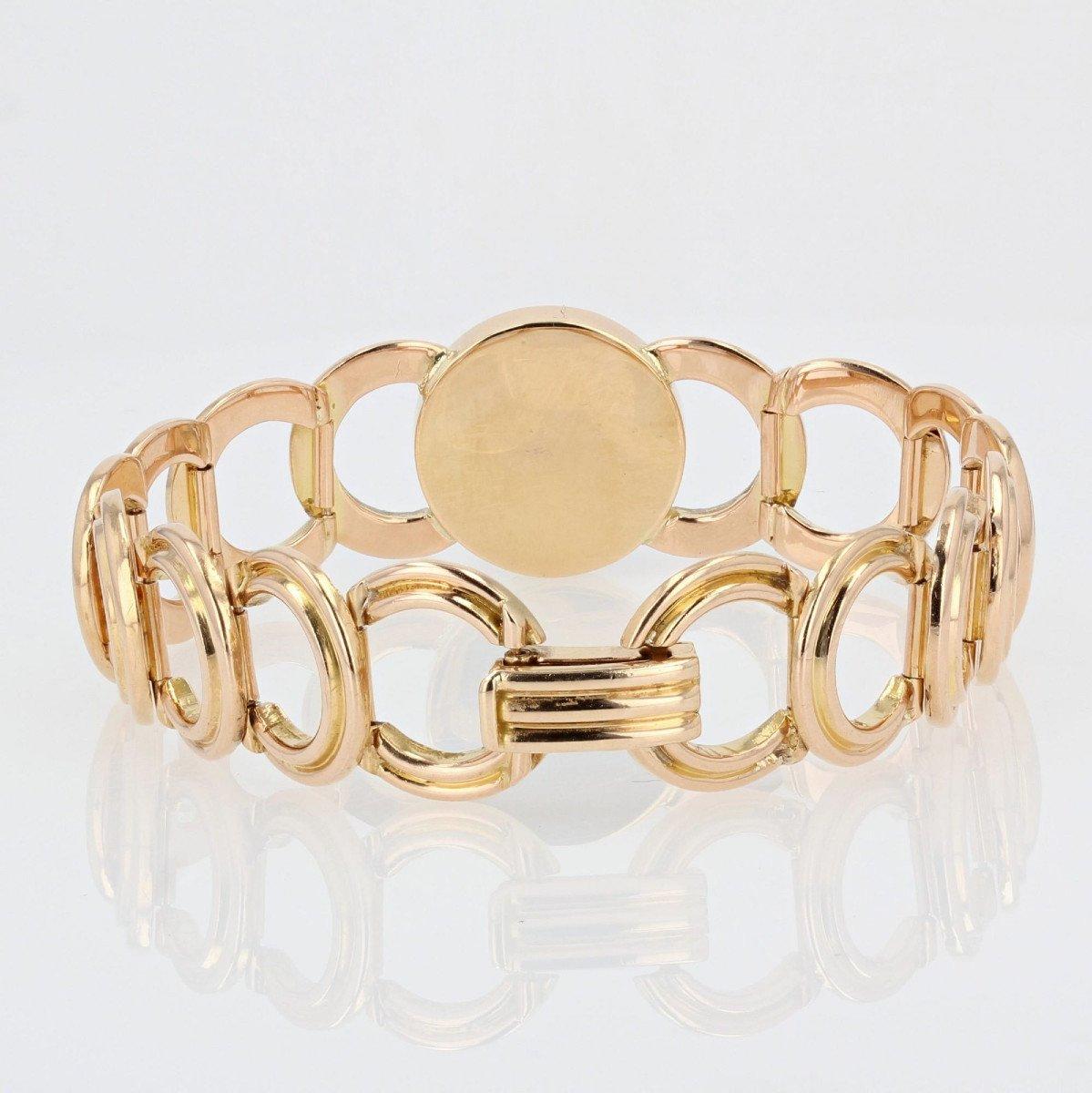 Gold Bracelet With Diamonds And Its Lapis Lazuli Cabochon-photo-6