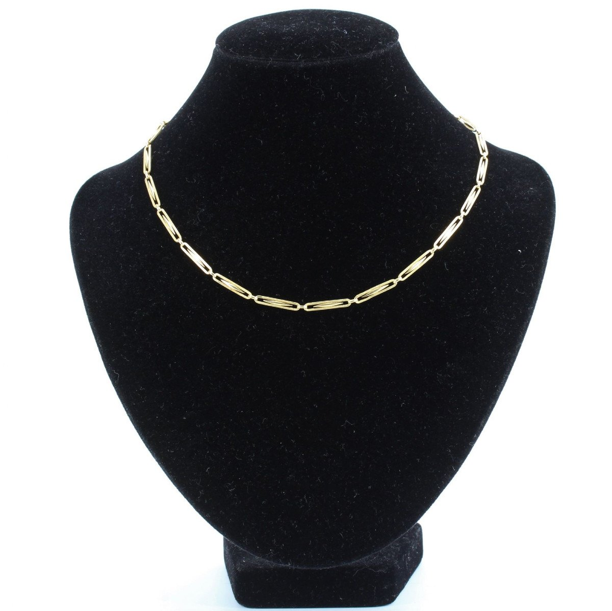 Old Necklace In Yellow Gold Grain Of Rice-photo-3