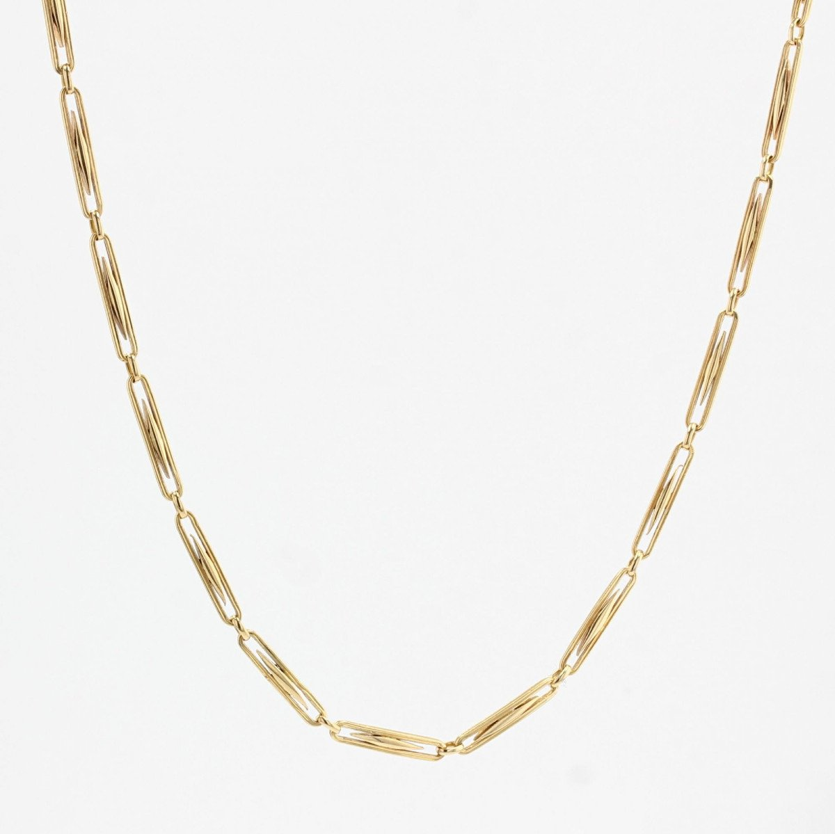 Old Necklace In Yellow Gold Grain Of Rice-photo-2
