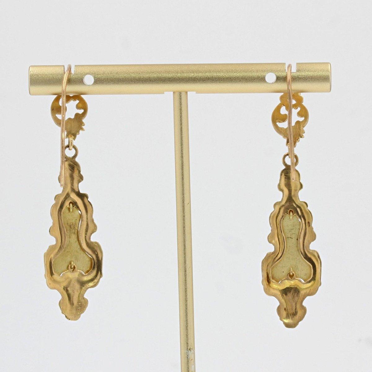 Antique Enamelled Earrings-photo-4