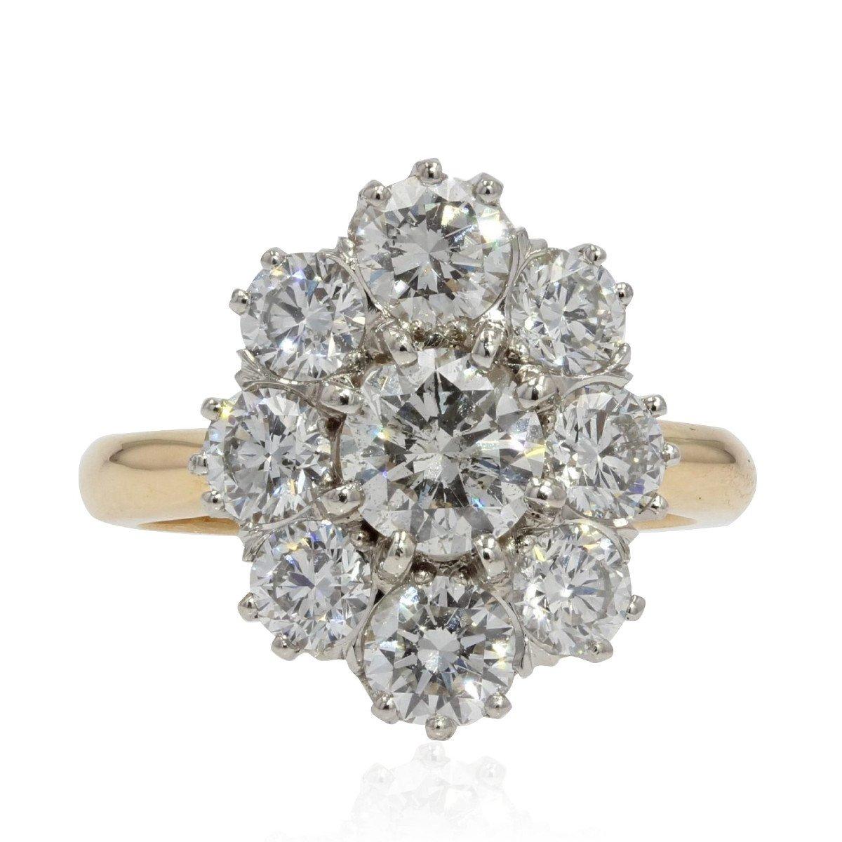Bague Diamants Pompadour