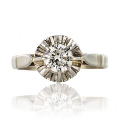 Solitaire Ancien Diamant 0.55 Carat