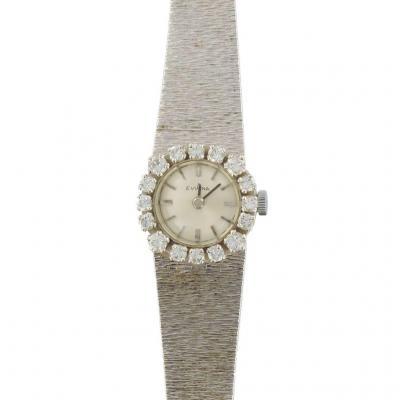 Vintage White Gold Diamond Watch