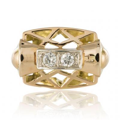 Bague Rétro Diamants
