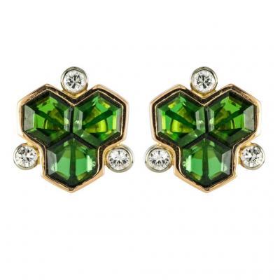 Earrings Tourmalines And Diamonds