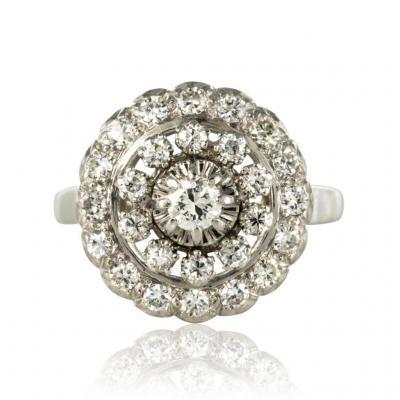 Bague Ronde Diamants