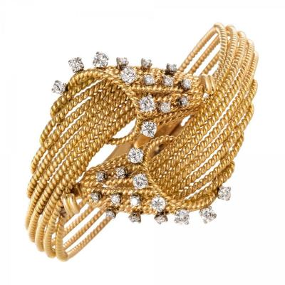 Bracelet Fils d'Or Et Diamants