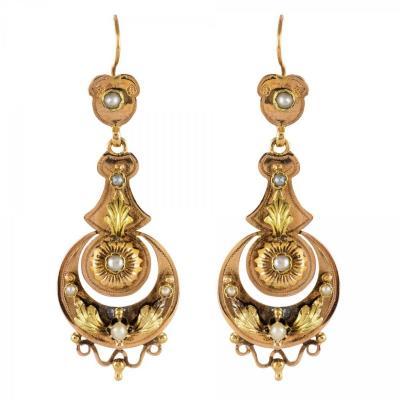 Antique Pearl Drop Earrings