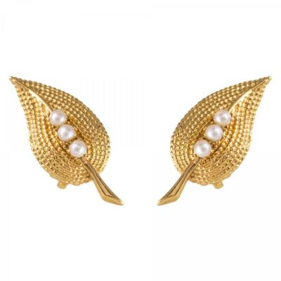 Clips d'Oreilles Anciens Perles
