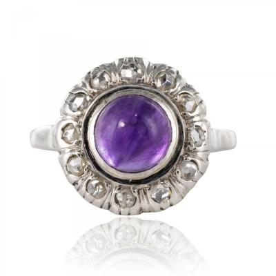 Ancient Amethyst Diamonds Ring