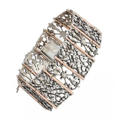 Bracelet Ancien Argent Et Vermeil