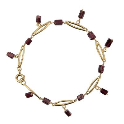 Bracelet En Or Et Grenats