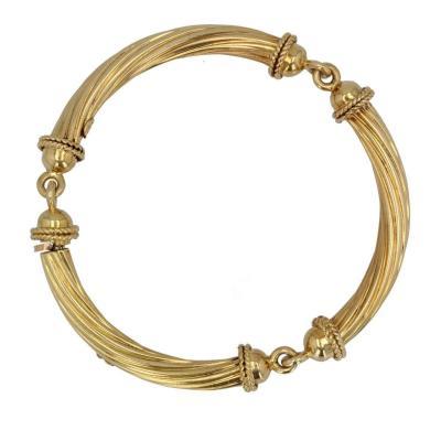 Articulated Bangle Gold Bracelet